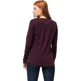 Jack Wolfskin Winter Travel T-shirt à col tunisien Femme, burgundy